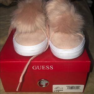 Guess blush pink Pom Pom sneakers ✨